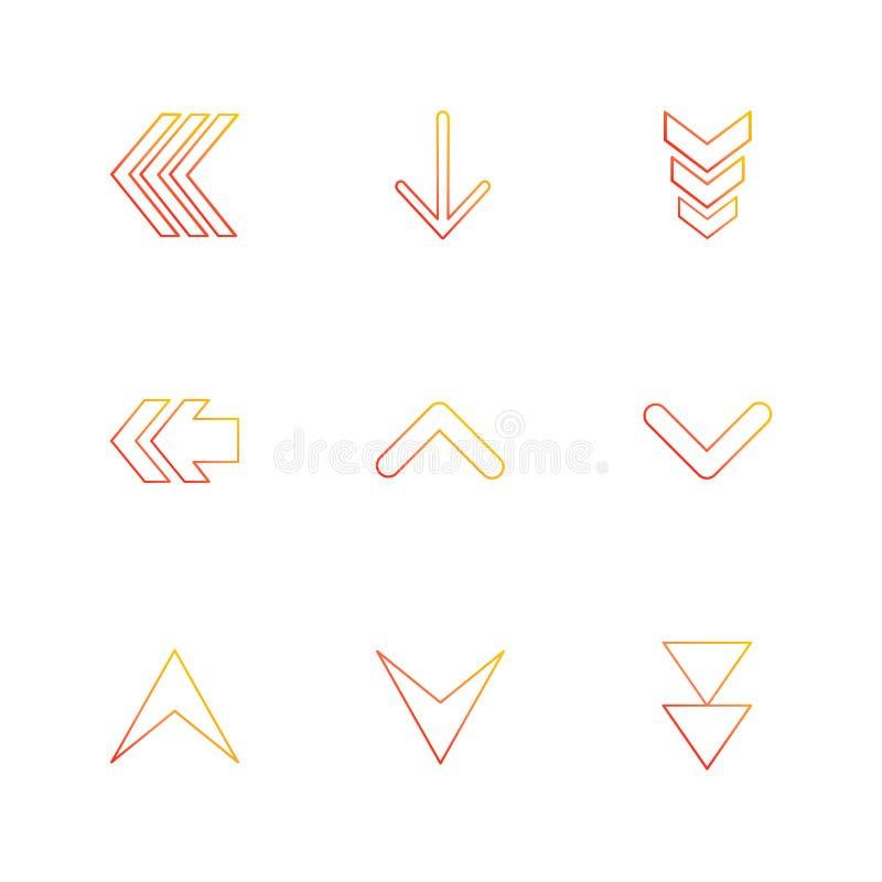 ściąganie, puszek, w górę, strzała, kierunki prawi, lewy, poin ilustracji
