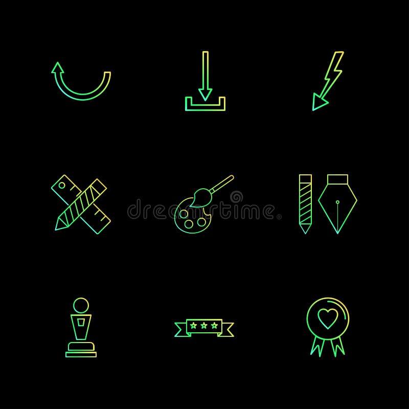 ściąganie, skala, ołówek, serce, strzała, kierunki, avatar ilustracji