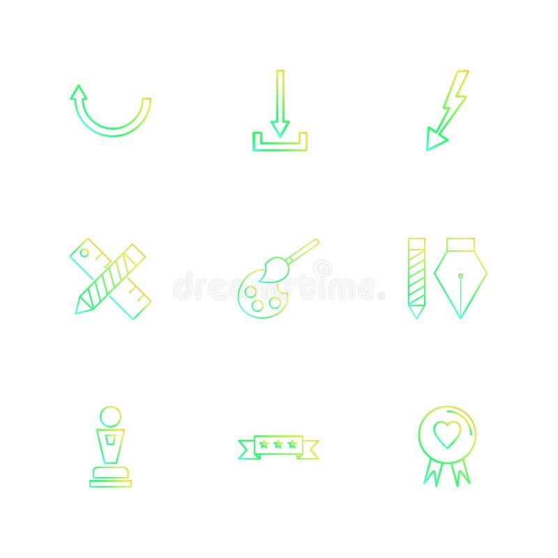 ściąganie, skala, ołówek, serce, strzała, kierunki, avatar royalty ilustracja
