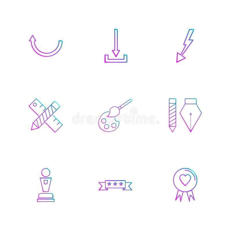 ściąganie, skala, ołówek, serce, strzała, kierunki, avatar ilustracja wektor