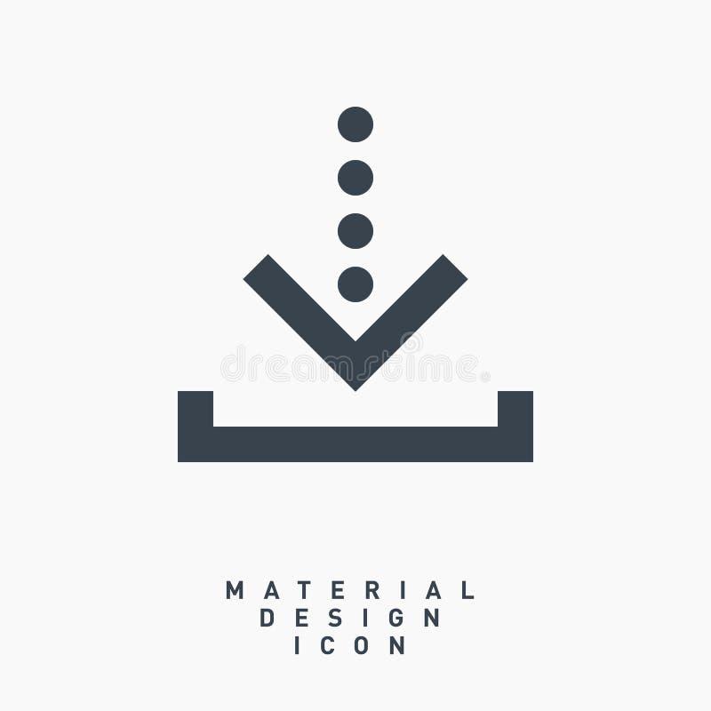 Ściąganie symbolu linii wektoru strzałkowata ikona obrazy royalty free