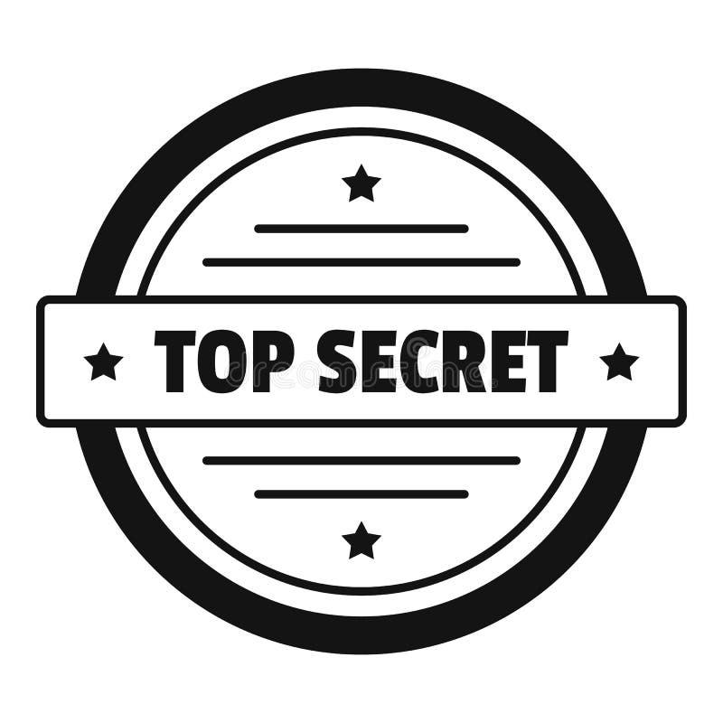 Ściśle tajny logo, prosty styl ilustracja wektor