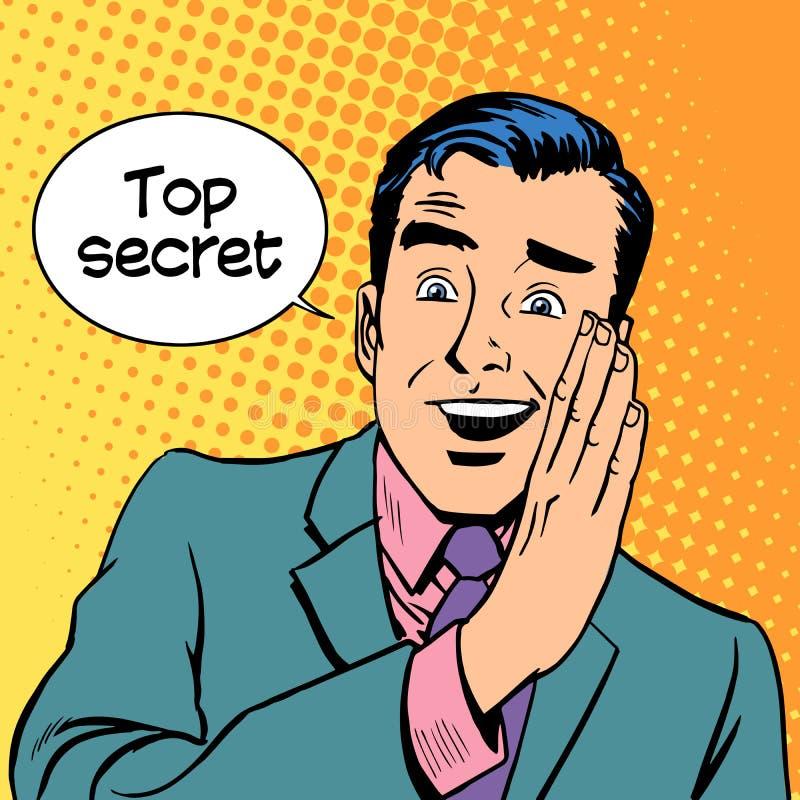 Ściśle tajny ochrona biznes ilustracji