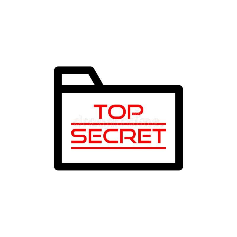Ściśle Tajny Skoroszytowa ikona lub logo ilustracji