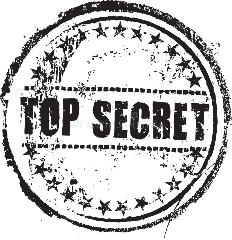 Ściśle tajny znaczek ilustracja wektor