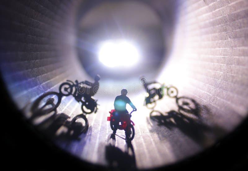 Ściana Śmiertelny motocyklu przedstawienie fotografia stock