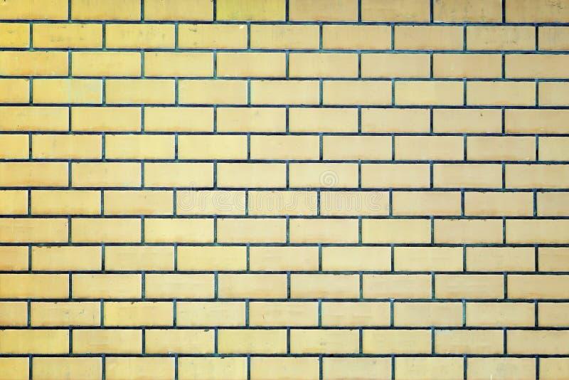 Ściana żółte cegły fotografia stock