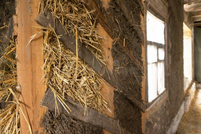 Ściana adobe dom zdjęcie stock