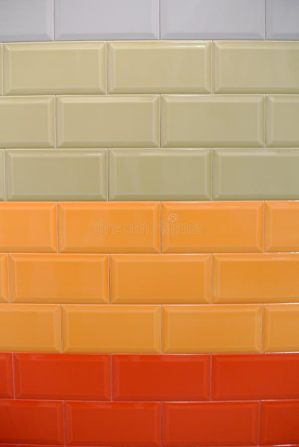 Ściana barwione płytki obrazy royalty free
