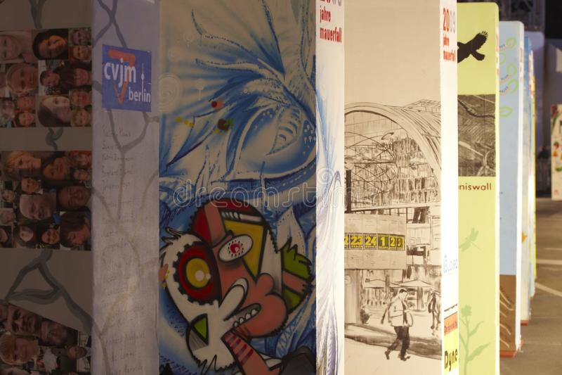 ściana Berlin spadek jubileuszu ściana obrazy stock