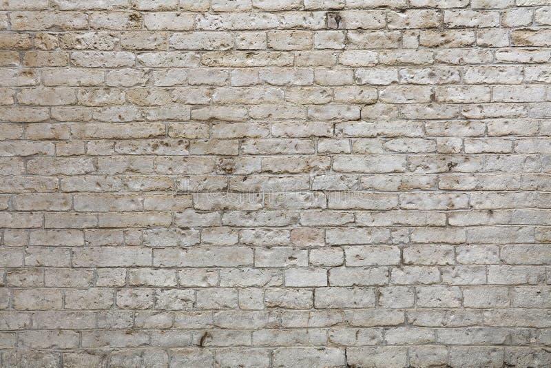Ściana białe naciekowe adarce kamienia cegły fotografia royalty free
