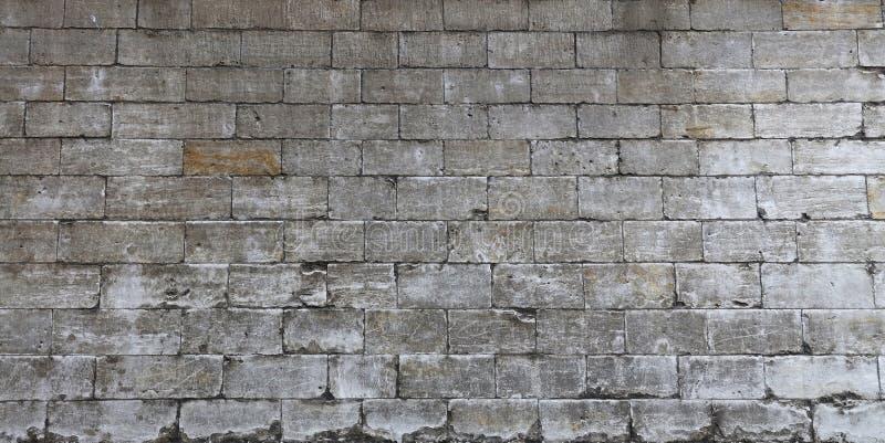 Ściana białe naciekowe adarce kamienia cegły zdjęcie royalty free
