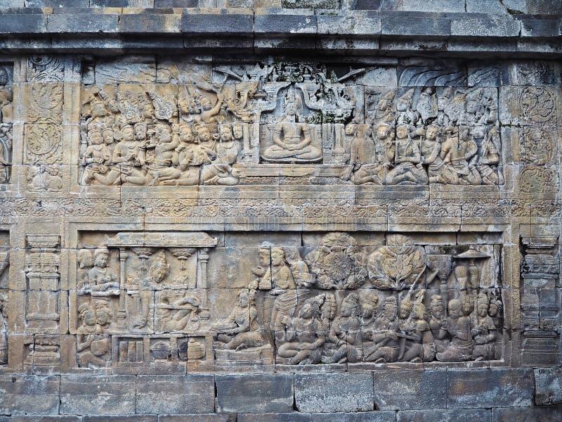 Ściana Borobudur fotografia royalty free