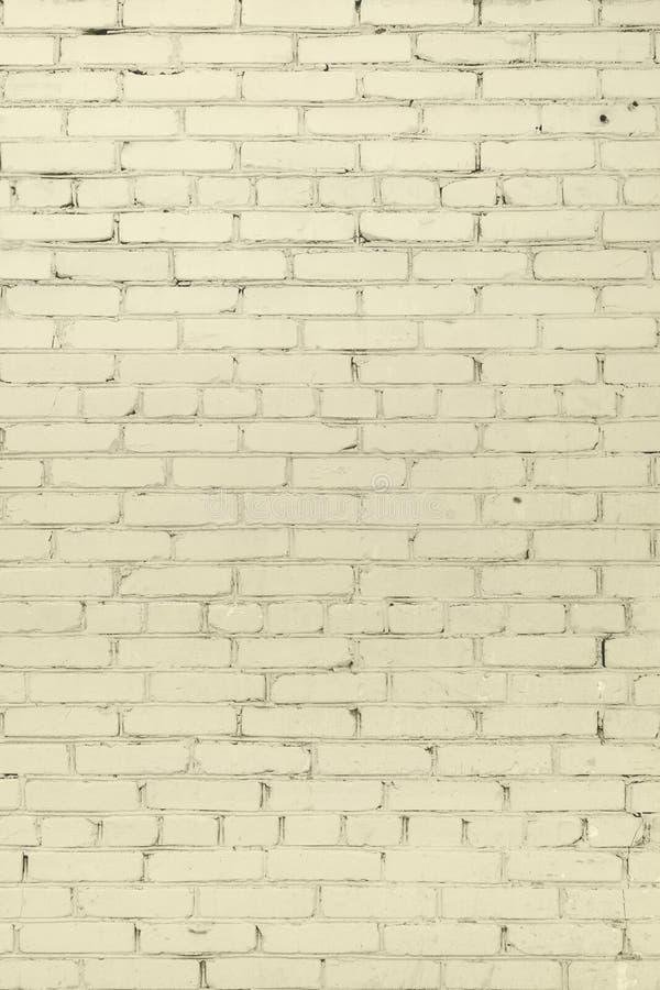 Ściana cegła, malująca w żółtym kolorze Piękny tło Opróżnia miejsce dla inskrypcj zdjęcie royalty free