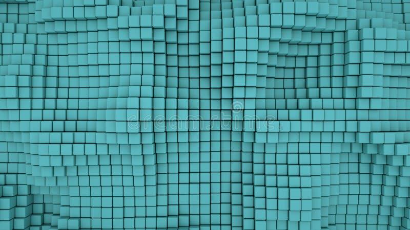 Ściana cyraneczka 3D boksuje abstrakcjonistycznego tło ilustracji