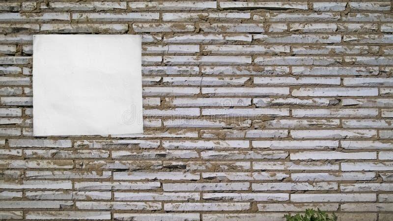 Ściana dla reklamy zdjęcia stock