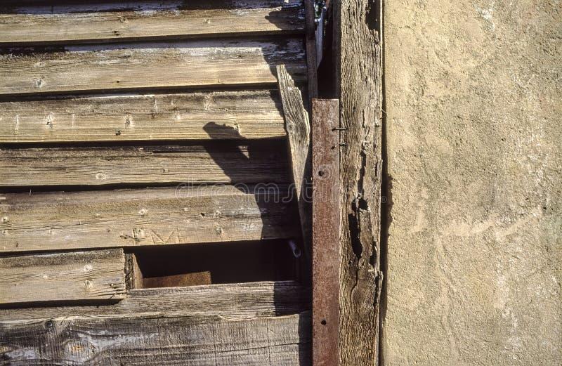 ?ciana drewniane deski i cement zdjęcie royalty free