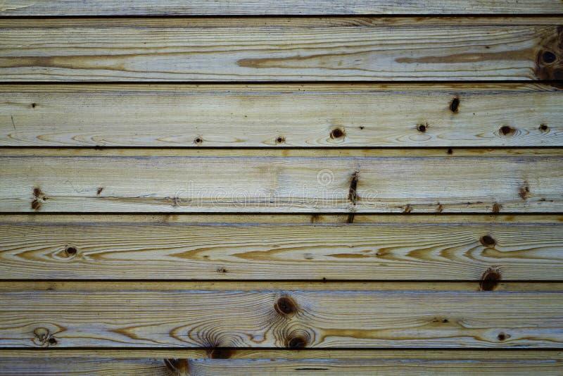 Ściana, drewniane deski, sosna Tekstura drzewo Tło obraz stock