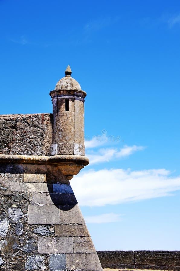 Ściana fort Graça zdjęcia stock