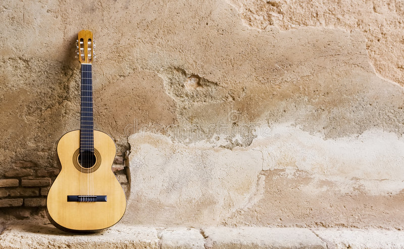 ściana hiszpańska gitary obrazy royalty free