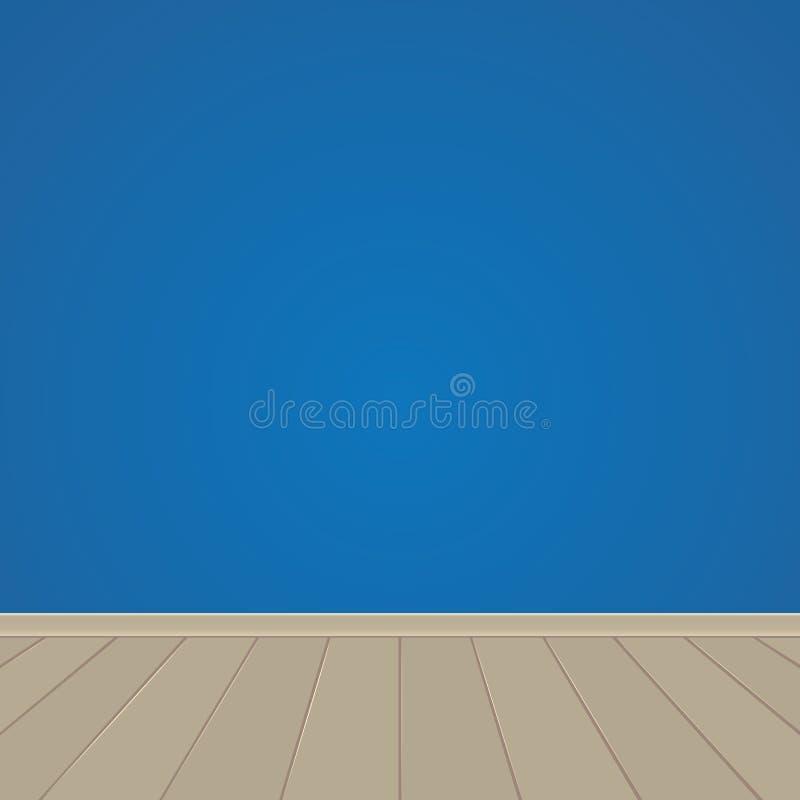 Ściana i drewniana podłoga ilustracja wektor