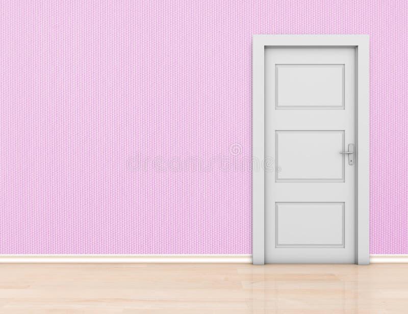 Ściana i drzwi obraz stock