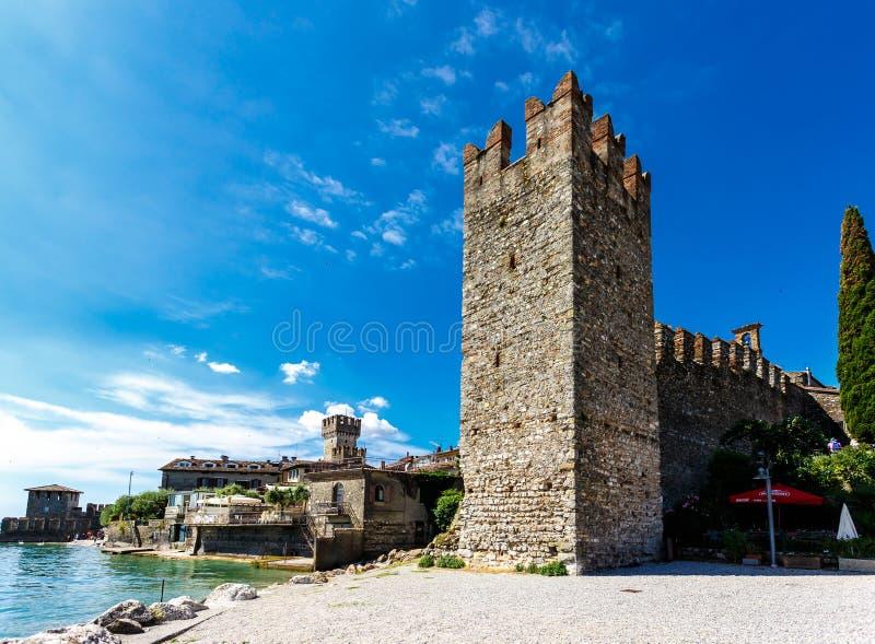 Ściana i ramparts antyczny średniowieczny forteca obraz royalty free