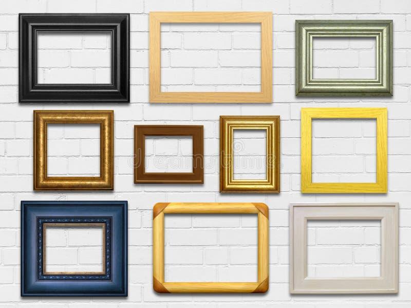 Ściana i ramy obrazy stock