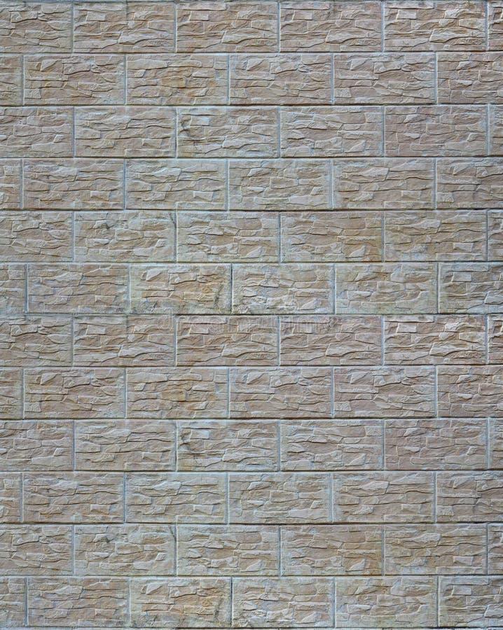 Ściana lekkie tekstur płytki, stylizowana w pojawieniu jako cegła Jeden typ ścienny decoratio zdjęcie royalty free