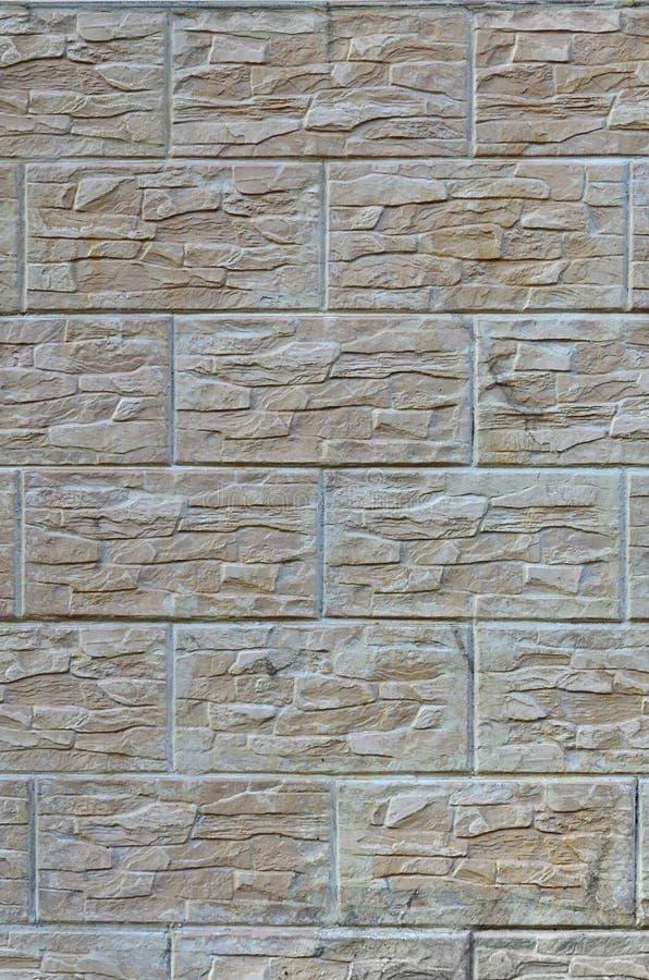 Ściana lekkie tekstur płytki, stylizowana w pojawieniu jako cegła Jeden typ ścienny decoratio obrazy stock