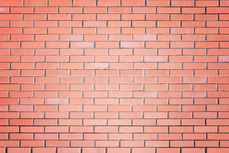 Ściana małe czerwone cegły Tekstura brickwork fotografia royalty free