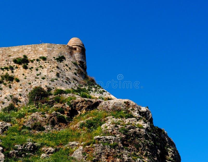 Ściana Przy Fortezza Lub fortem Rethymno Crete Grecja zdjęcia royalty free