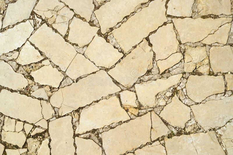 Ściana robić naturalni iłołupka kamienia czerepy obraz royalty free