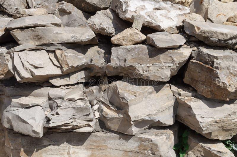 Ściana robić naturalny bez leczenia kamień bez cementu zdjęcie royalty free