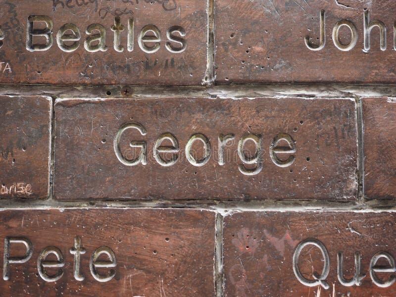 Ściana sława w Liverpool obraz royalty free