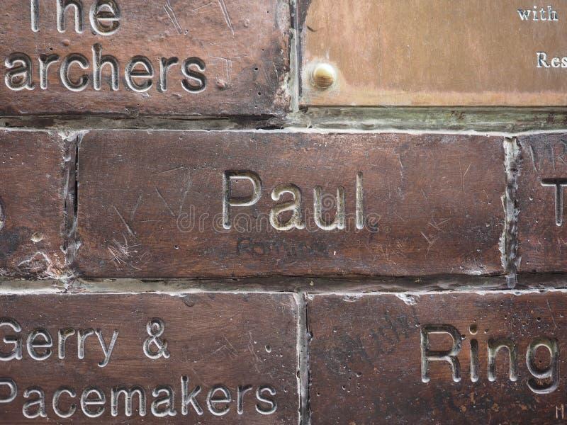 Ściana sława w Liverpool zdjęcia royalty free