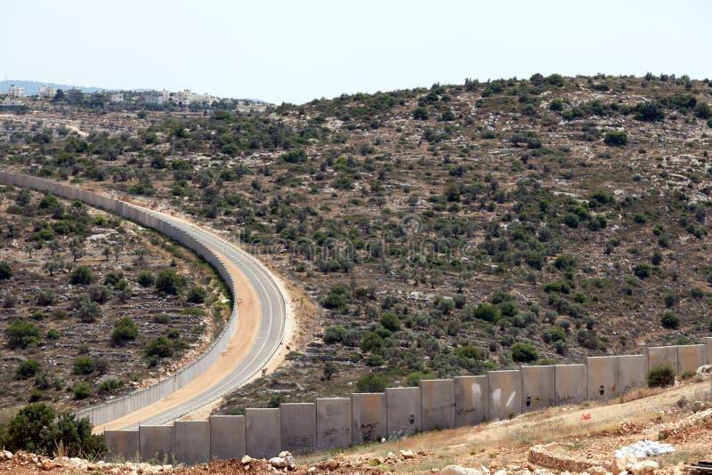 Ściana Separacyjny Palestyna Izrael apartheid fotografia royalty free