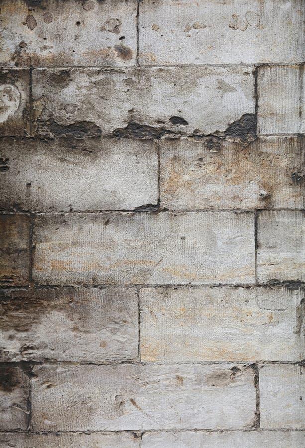 Ściana szare naciekowe adarce kamienia cegły obraz stock