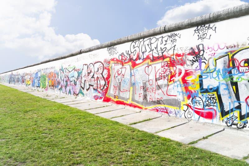 Ściana w Berlińskim Niemcy obrazy royalty free