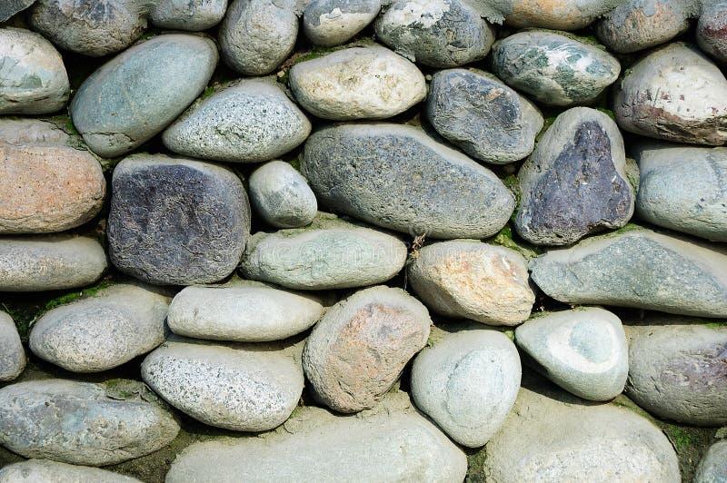 Ściana wielcy round kamienie fotografia royalty free