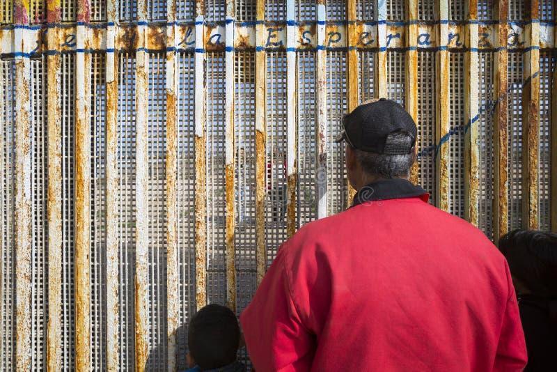 Ściana wstyd Meksyk, Tijuana - zdjęcie royalty free