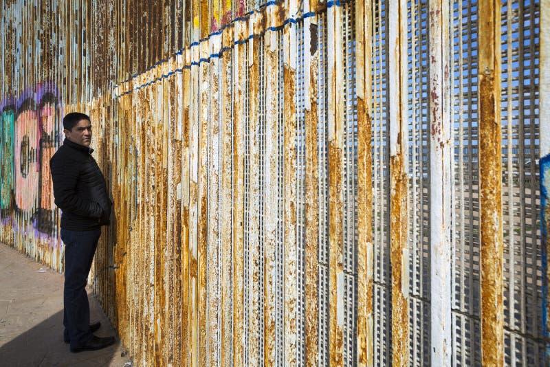 Ściana wstyd Meksyk, Tijuana - obrazy royalty free