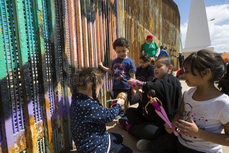 Ściana wstyd Meksyk, Tijuana - zdjęcia stock
