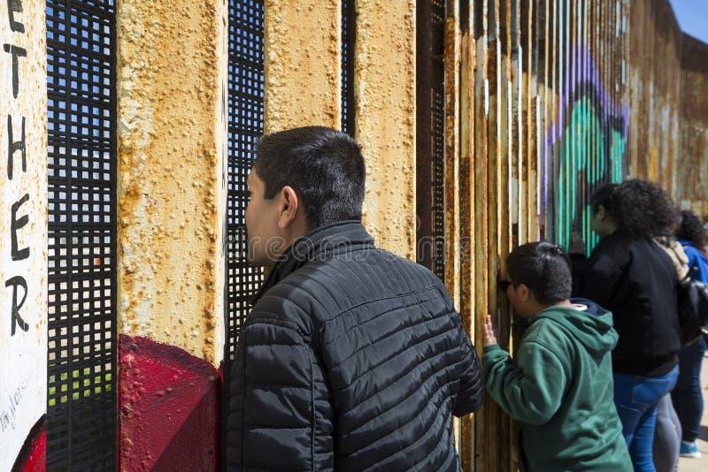 Ściana wstyd Meksyk, Tijuana - zdjęcia royalty free