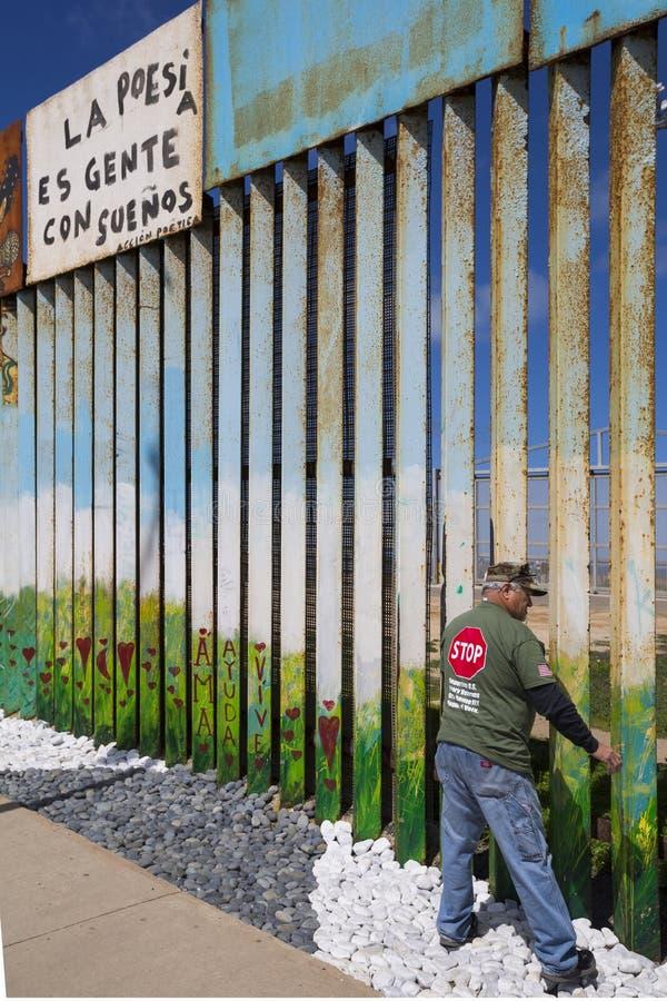 Ściana wstyd Meksyk, Tijuana - obraz stock