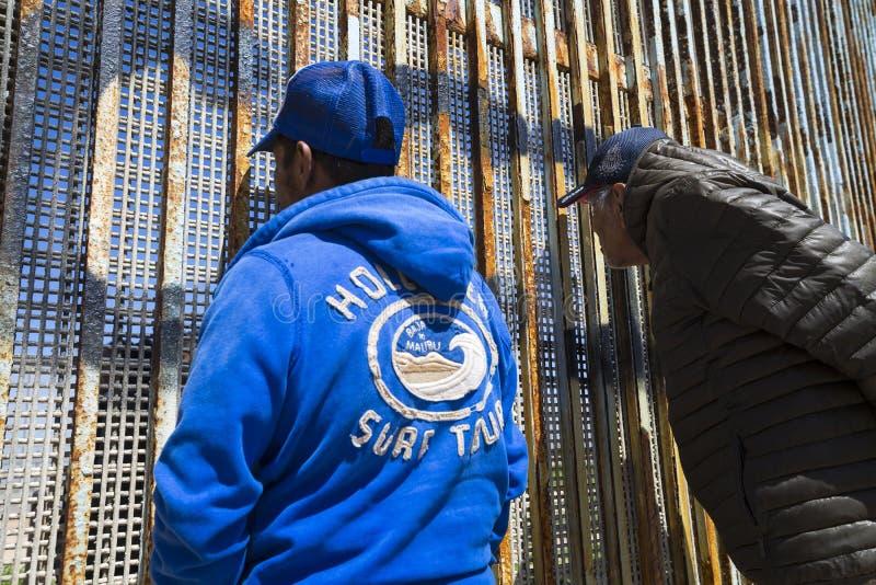Ściana wstyd Meksyk, Tijuana - fotografia stock