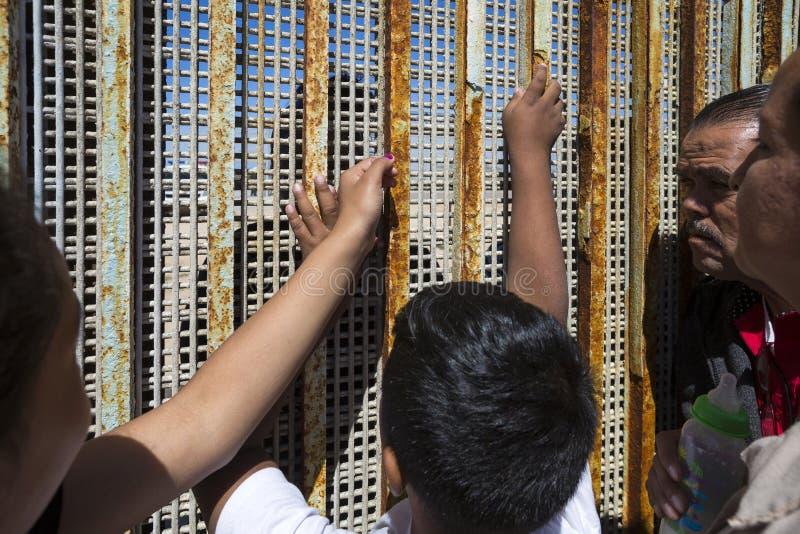 Ściana wstyd Meksyk, Tijuana - zdjęcie stock