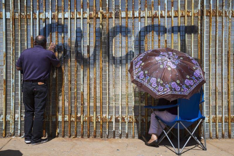 Ściana wstyd Meksyk, Tijuana - obrazy stock
