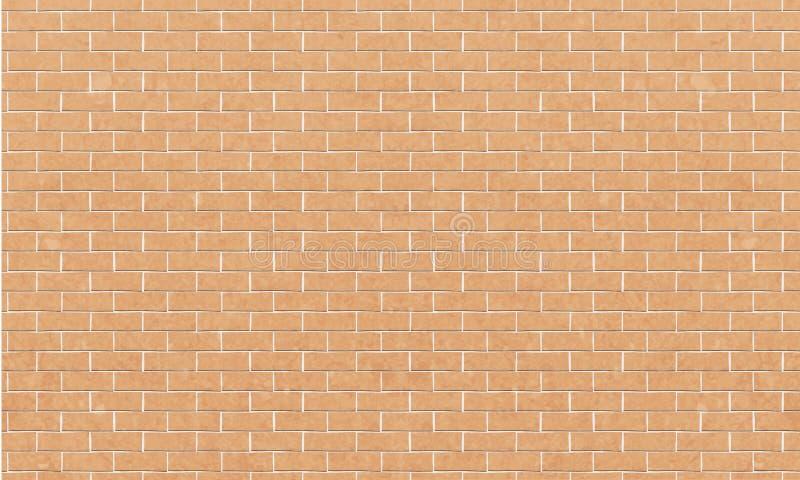 Ściana z cegieł, Żółty biały cegły ściany tekstury tło dla graficznego projekta, wektor royalty ilustracja