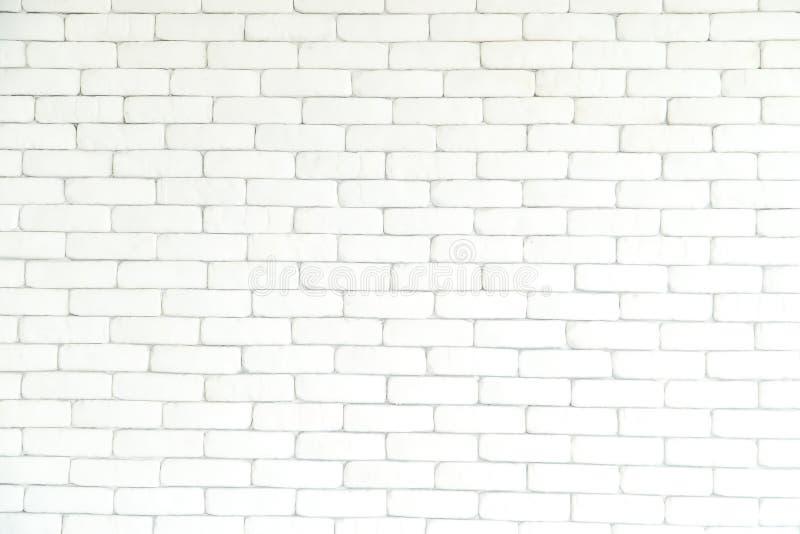 Ściana z cegieł biały tło, tekstura i, wzór zdjęcie royalty free